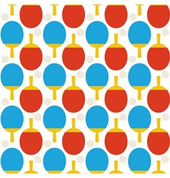 Flat Seamless Sport Tennis Ping Pong Pattern vector image vector image