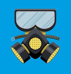 modern gas mask respirator fire equipment vector image