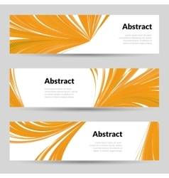 Set of Orange Curved Lines Backgrounds Banners and vector image vector image