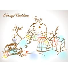 snowman vector image