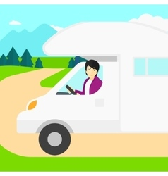 Man driving motor home vector image vector image