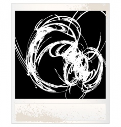 scratched photo frame vector image vector image