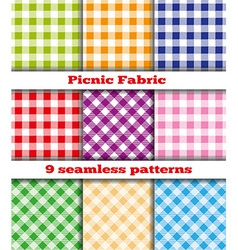 Set of tissue samples for a picnic vector image vector image