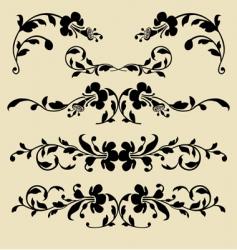baroque borders vector image vector image
