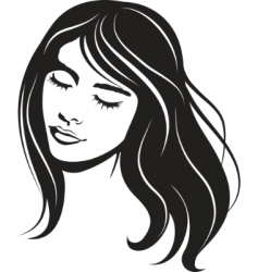 beauty vector face girl portrait vector image vector image