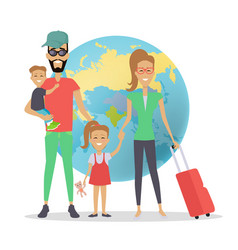happy family trip traveling concep vector image