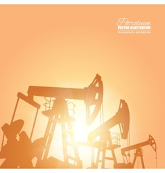 Oil pump vector image vector image