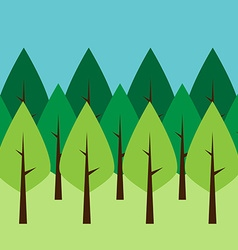 Seamless green trees vector image vector image