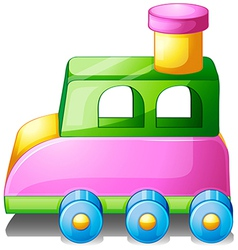 A colorful toy car vector image
