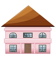 A single detached pink house vector image