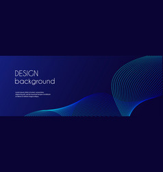 abstract dark blue banner template minimal vector image