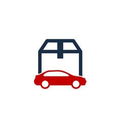 automotive box logo icon design vector image