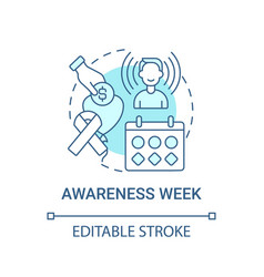 awareness week fundraiser concept icon vector image