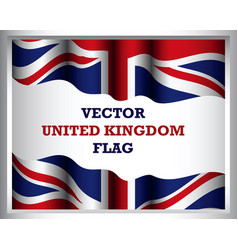 background united kingdom flag art vector image