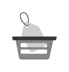 basket buying online price tag gray color vector image