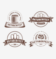 beer festival oktoberfest celebrations set of vector image