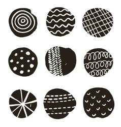 Black and white print with decorative circles vector