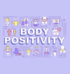Body positivity word concepts banner vector