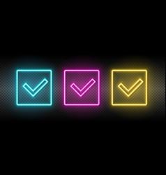 Box delivered neon icon neon vector