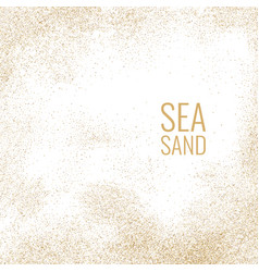 Bright poster with sea sand on a white background vector