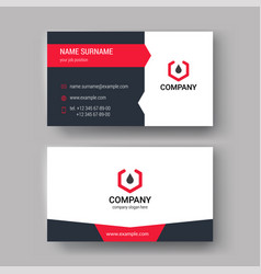 business cards design set vector image