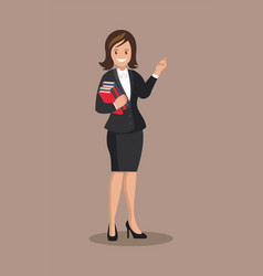 Business woman in a suit vector