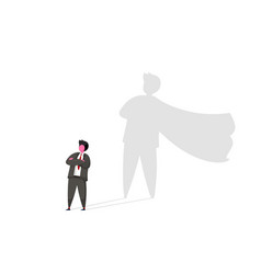 businessman with superhero shadow concept vector image