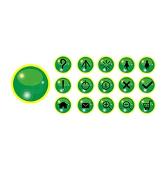 Button with shine vector image