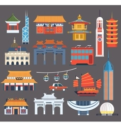 Chinese Symbolic Landmarks Collection vector image
