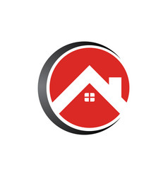 circle real estate home logo template design vector image