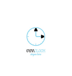 clock gym logo design vector image