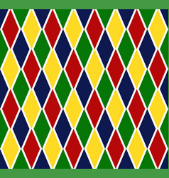 Colorful argyle harlequin seamless pattern vector