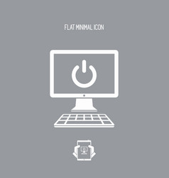 Computer power switch icon vector