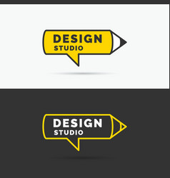 Conceptual logo and label design studio vector