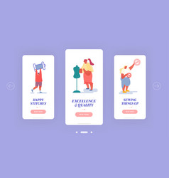 creative atelier fashion design mobile app page vector image