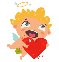 cupid cartoon character for valentines day vector image