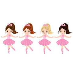 cute little ballerinas vector image