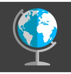 Earth globe flat icon vector image