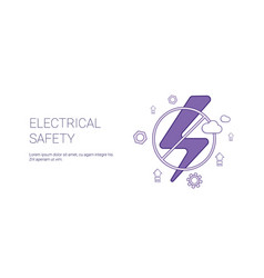 electricial safety concept template web banner vector image