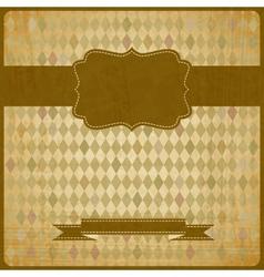 eps10 vintage grunge old card background vector image