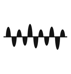 equalizer play icon simple black style vector image vector image