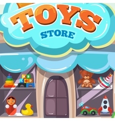 Facade toy store isolate vector