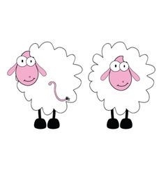 funny sheep with big eye vector image
