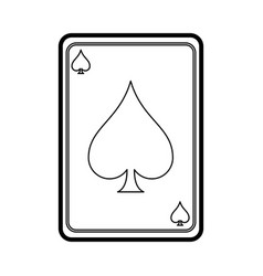 game cards spades diamonds icon image vector image