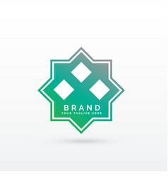 Geometric arabic style logo template vector