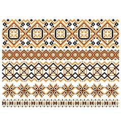 Geometric embroidery borders and frames vector image