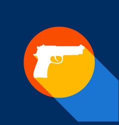gun sign white icon on vector image