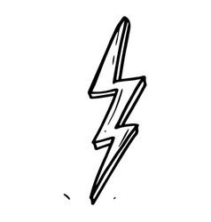hand drawn doodle electric lightning bolt symbol vector image