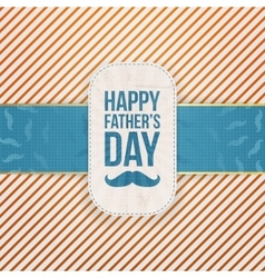Happy Fathers Day paper Card Template vector image