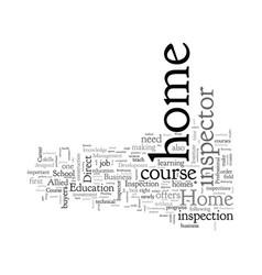 Home inspector course vector